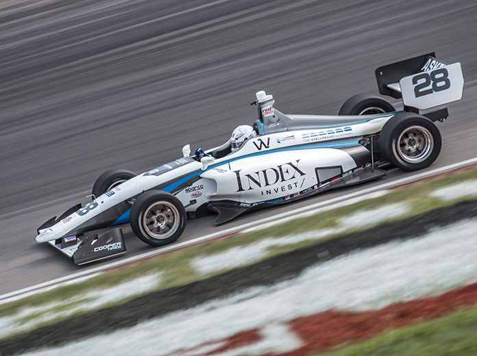 Oliver Askew raced to a dominant victory in Indy Lights competition Saturday at World Wide Technology Raceway. (Brad Plant Photo)