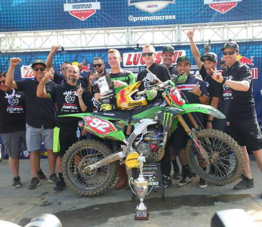 Adam Cianciarulo claimed his first Lucas Oil Pro Motocross 250 class championship Saturday afternoon. (Jeff Kardas Photo)