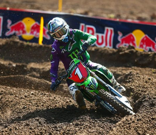 Eli Tomac capped the Lucas Oil Pro Motocross season with a win Saturday at Ironman Raceway. (Jeff Kardas Photo)