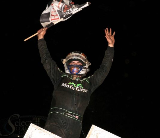 Skylar Gee won Saturday's All Star sprint car feature at Lincoln Speedway. (Dan Demarco photo)