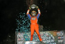 Tyler Courtney won Saturday's Smackdown at Kokomo (Ind.) Speedway. (Jim DenHamer photo)