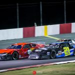 Buddy Shepherd (81) on his way to victory Saturday at Madera Speedway. (Jason Wedehase Photo)