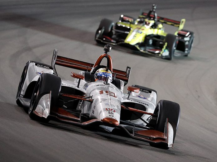 Santino Ferrucci turned a lot of heads with his performance Saturday at World Wide Technology Raceawy. (IndyCar Photo)