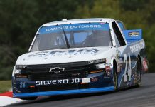 Brett Moffitt was in his own class Sunday at Canadian Tire Motorsport Park. (NASCAR Photo)