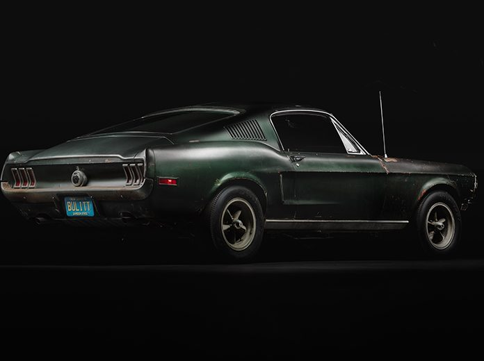 The world-famous Ford Mustang that action star Steve McQueen drove in the 1968 film Bullitt will headline the Oct. 17-19 Pennzoil AutoFair at Charlotte Motor Speedway. (Courtesy of Sean Kiernan)