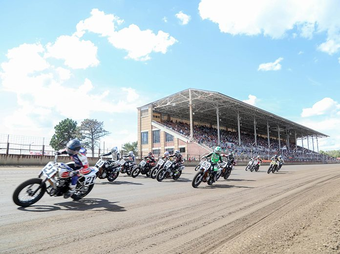 A pivotal visit to the Illinois State Fairgrounds is on deck for American Flat Track. (Scott Hunter/AFT Photo)