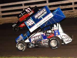 Danny Dietrich (48) has maintained his position at the top of the National Sprint Car Rankings this week. (Paul Arch Photo)