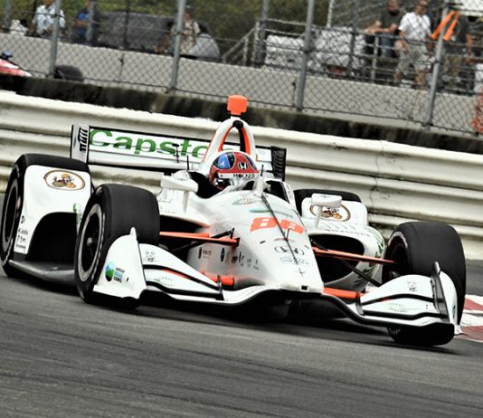 Colton Herta set the fastest time in NTT IndyCar Series practice Friday at Portland Int'l Raceway. (Al Steinberg Photo)