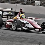 Rinus VeeKay en route to victory Saturday at Portland Int'l Raceway. (Al Steinberg Photo)