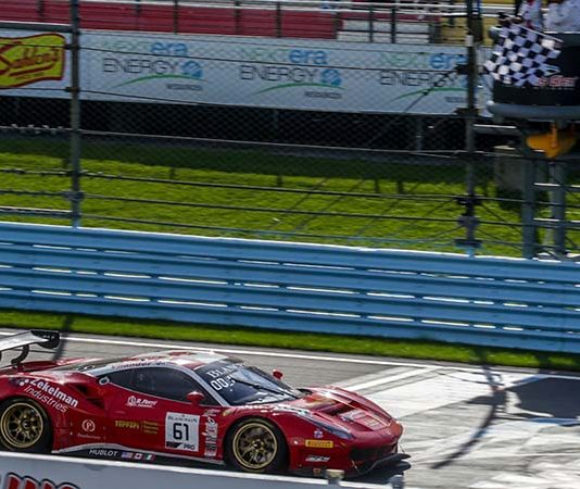 Daniel Serra and Toni Vilander put Ferrari in victory lane Saturday at Watkins Glen Int'l.