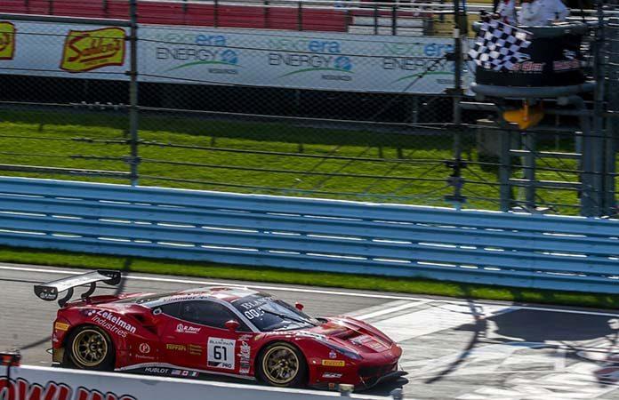 Daniel Serra and Toni Vilander put Ferrari in victory lane Saturday at Watkins Glen Int'l.