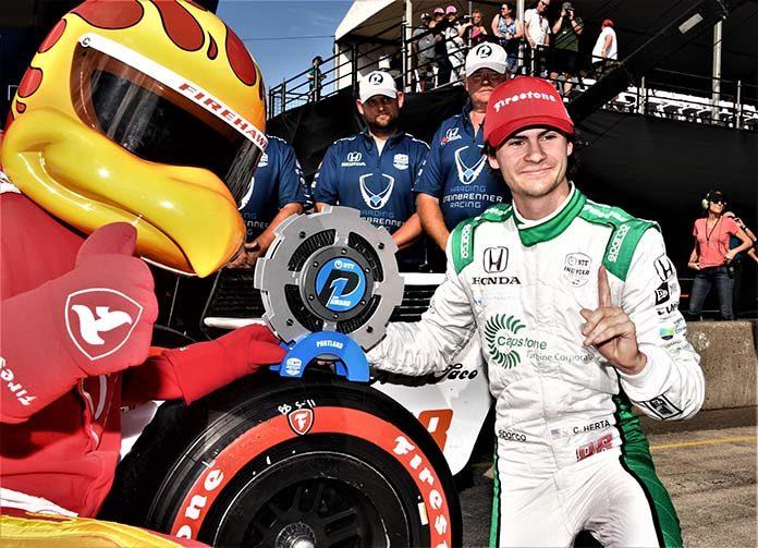 Colton Herta earned his second NTT IndyCar Series pole of the season Saturday at Portland Int'l Raceway. (Al Steinberg Photo)