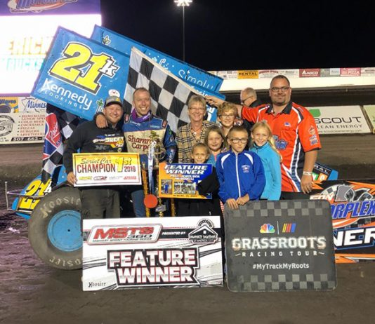 Thomas Kennedy earned his first win of the year at the Jackson Motorplex on Saturday.