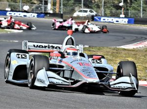 Will Power at the front of the field Sunday at Portland Int'l Raceway. (Al Steinberg Photo)