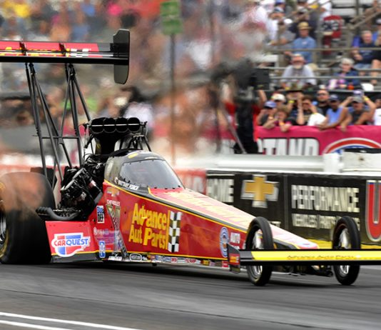 Brittany Force became the first female driver to earn the No. 1 qualifying position in Top Fuel at the U.S. Nationals. (Shawn Crose Photo)