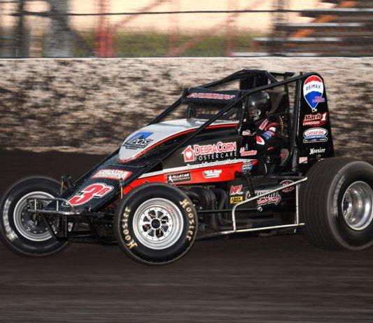 Kyle Cummins won Sunday's MSCS sprint car feature at Tri-State Speedway. (David Nearpass photo)