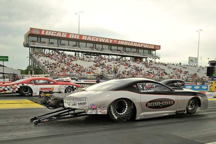Pro Mod racer Chad Green was taken to a local hospital after a violent crash Sunday at the U.S. Nationals.