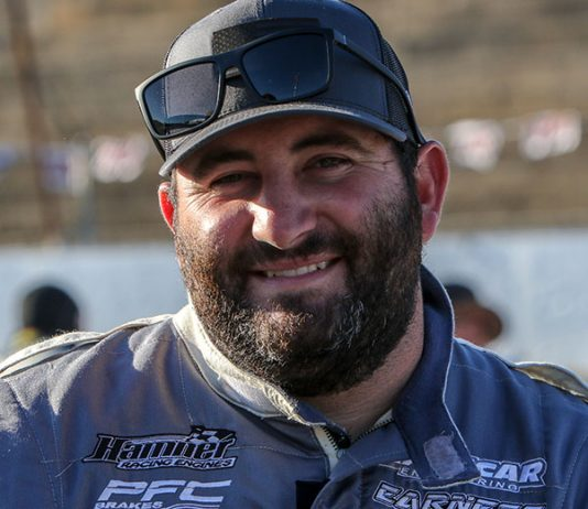Bubba Pollard, shown here earlier this year, won the Canadian Short Track Nationals on Sunday at Jukusa Motor Speedway. (Adam Fenwick Photo)