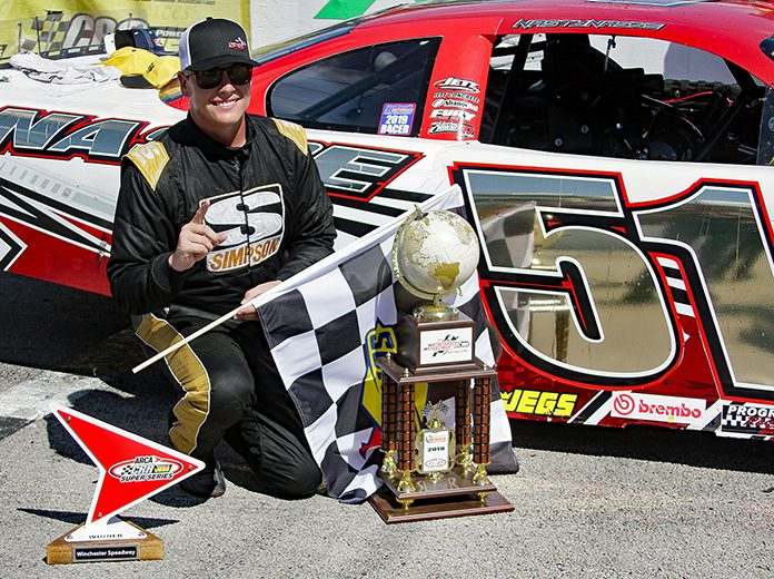 Stephen Nasse won his second late model feature in as many days Monday at Winchester Speedway. (Jim Denhamer Photo)