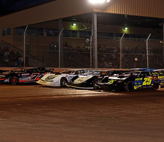 Drivers prepare to go racing prior to Friday's World of Outlaws Morton Buildings Late Model Series feature at Sharon Speedway. (Joe Secka/JMS Pro Photo)
