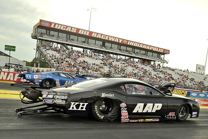 Mike Castellana raced to victory in the E3 Spark Plugs NHRA Pro Mod Drag Racing Series portion of the U.S. Nationals. (Shawn Crose Photo)