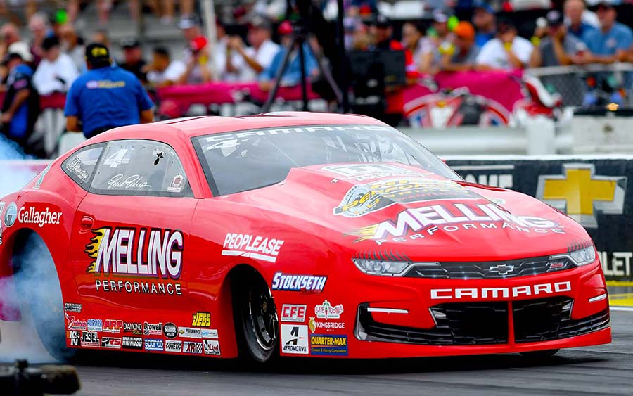 Erica Enders during the Chevrolet Performance U.S. Nationals at Lucas Oil Raceway. (Kent Steele Photo)