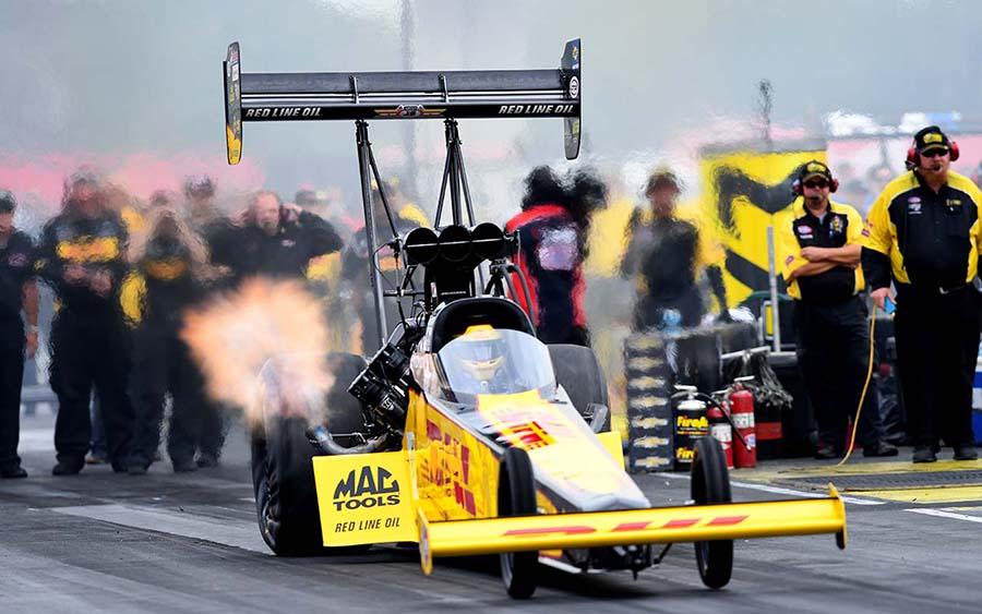 Richie Crampton during the Chevrolet Performance U.S. Nationals at Lucas Oil Raceway. (Kent Steele Photo)