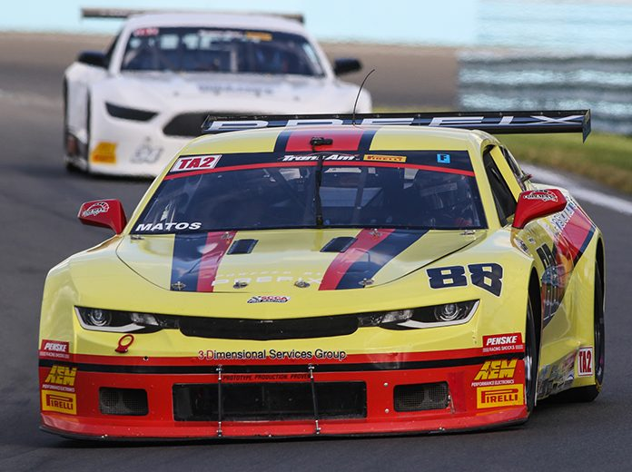 Rafa Matos raced to the pole in Trans-Am Series TA2 qualifying Friday at Watkins Glen Int'l.