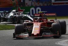 Charles Leclerc (16) held off both Mercedes drivers to win the Italian Grand Prix. (Steve Etherington Photo)