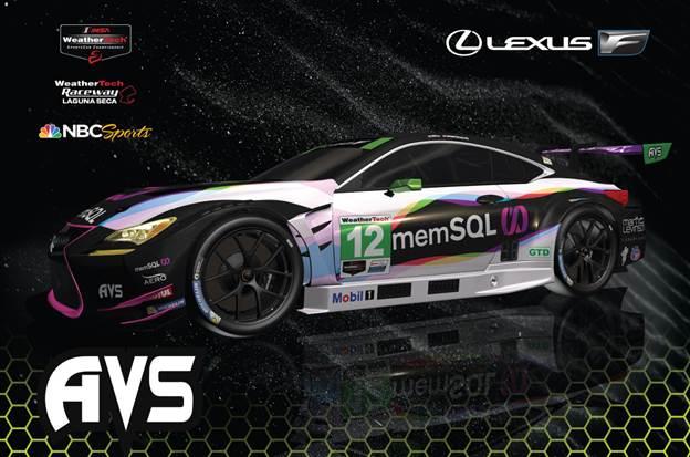MemSQUL will back AIM Vasser Sullivan during the Monterey Grand Prix.