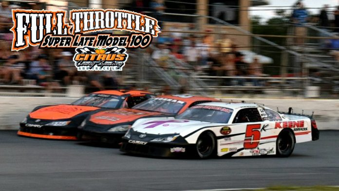 $10,000 will be on the line during the third edition of the Full Throttle 100 this weekend at Citrus County Speedway. (Citrus County Speedway Photo)
