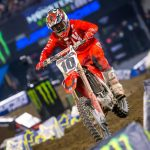 Justin Brayton (pictured) will join Team Honda HRC for the 2020 Monster Energy AMA Supercross season. (Honda Photo)