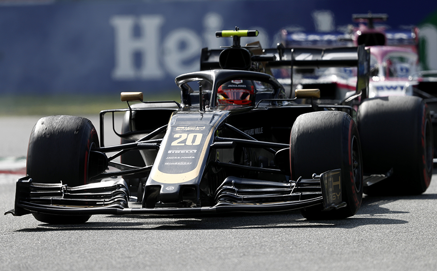 Kevin Magnussen during Sunday's Italian Grand Prix. (Haas F1 Photo)