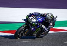 Maverick Viñales was fastest Friday in MotoGP practice at Misano World Circuit Marco Simoncelli. (Yamaha Photo)