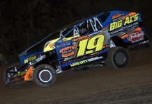 Jessey Mueller raced to victory Friday night at Albany-Saratoga Speedway. (Dave Dalesandro Photo)