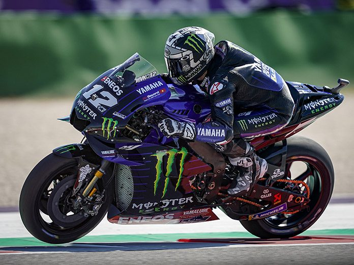 Maverick Viñales earned the pole position for Sunday's MotoGP race at Misano World Circuit Marco Simoncelli. (Yamaha Photo)