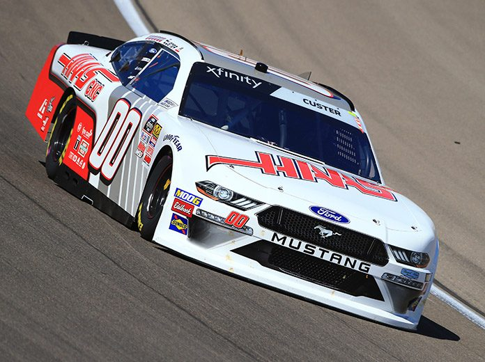 Cole Custer will start from the pole Saturday at Las Vegas Motor Speedway. (HHP/Jeff Fluharty Photo)