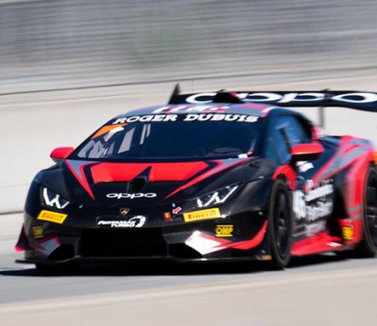 Brandon Gdovic and Conor Daly raced to victory in Saturday's Lamborghini Super Trofeo North America feature at WeatherTech Raceway Laguna Seca.