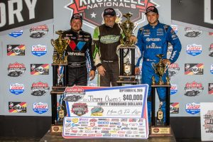 Jimmy Owens (center) shared the podium with Brandon Sheppard and Hudson O'Neal. (LOLMDS photo)