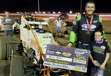 Brody Roa in victory lane. (Lance Jennings photo)
