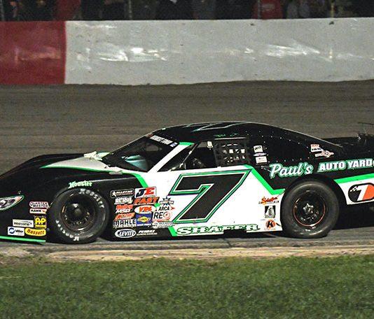 Paul Shafer Jr. won Saturday's Tony Bettenhausen Classic 100 at Grundy County Speedway. (Stan Kalwasinski Photo)