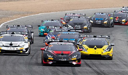 The field for Sunday's Lamborghini Super Trofeo North America. (IMSA Photo)