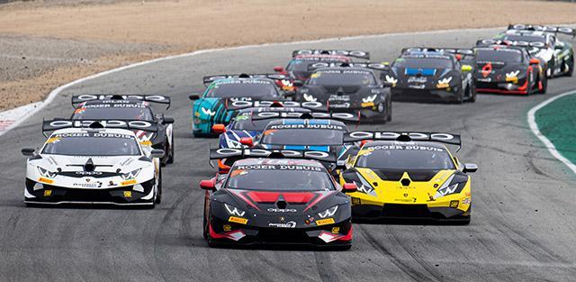 The field for Sunday's Lamborghini Super Trofeo North America. (IMSA Photo)