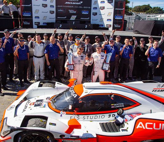Juan Pablo Montoya and Dane Cameron scored a dominant victory in the Monterey SportsCar Championship Sunday at WeatherTech Raceway Laguna Seca. (Sarah Weeks Photo)
