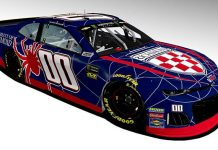 Landon Cassill will carry the colors of the University of Richmond this week at Richmond Raceway.