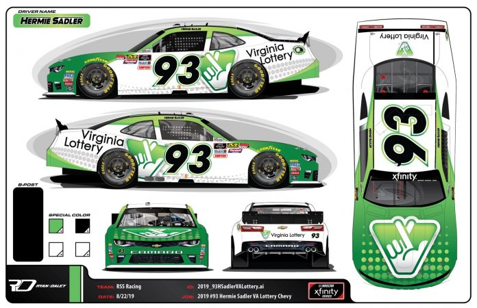 Hermie Sadler's RSS Racing entry for this weekend at Richmond Raceway.