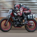 Briar Bauman is looking to clinch the American Flat Track Twins title this weekend. (Scott Hunter/AFT Photo)