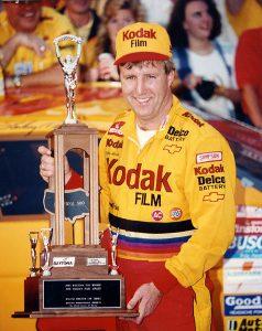 Sterling Marlin in Daytona 500 victory lane in 1995. (NASCAR Photo)