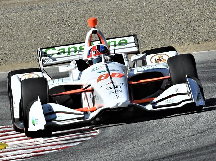 Colton Herta was fastest during NTT IndyCar Series testing on Thursday at WeatherTech Raceway Laguna Seca. (Al Steinberg Photo)