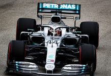 Lewis Hamilton was fastest in Singapore Grand Prix practice. (Mercedes Photo)